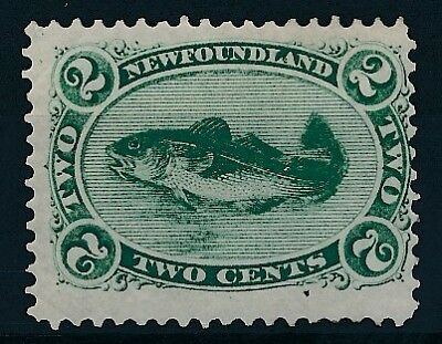 [33232] Newfoundland 1865/71 Fish Good stamp Very Fine MH