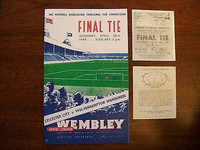 1949 FA Cup final programme & Ticket Brand new Leicester City v Wolves mint con.