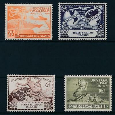 [59642] Turks and Caicos 1949 UPU good set MNH Very Fine stamps