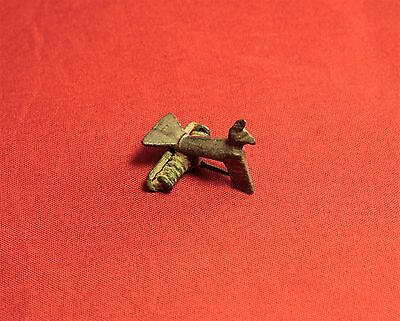 Ancient Roman Silvered Bronze Bird Fibula or Brooch, 2. Century - Zoomorph!