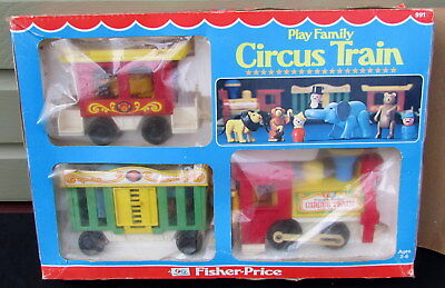Vintage Fisher Price Little People - 991 Play Family Circus Train 1970s IN BOX