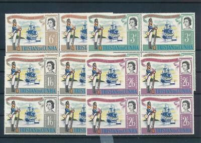 [G11784] Tristan da Cunha 66 boats good set very fine MNH stamps in blocs of 4