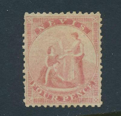 NEVIS 1862, 4d PERF 13, VF USED SG#2 CAT£75 $100 (SEE BELOW)
