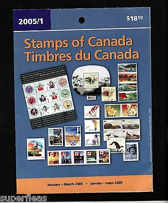 Canada MNH Stamps • Post Office • QP2005/1 • w/ NHL birds fishing rooster FV$18
