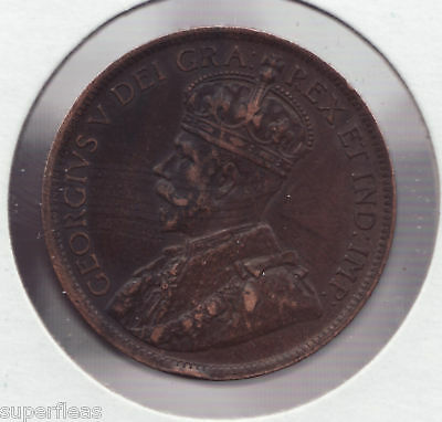 SUPERFLEAS 1916 George V • Large Cent Canada penny coin ~ Extra Fine