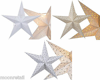 45cm Pentagram Hanging Paper Christmas Star Lamp Shade Xmas Tree Decorations