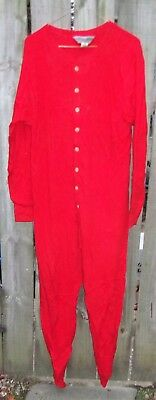 Vintage Mens Eastern Mountain Sports Co. Red Long Johns Longjohns Size Medium