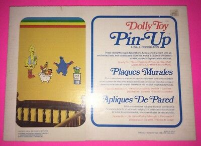 Vintage Dolly Toy Pin-Up Wall Decoration Sesame Street Bath Time