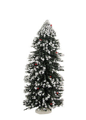 "Byers Choice New 12"" Snowy Christmas Tree Accessory w/Plastic Storage Cylinder"