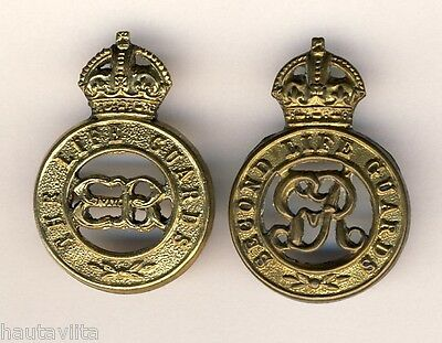 1st 2nd Lifeguards Cap Badges Edward VII + George V Kings Crowns 2x Cavalry