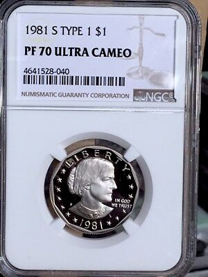 1981-S Type 1 Susan B. Anthony NGC PF 70 Ultra Cameo * Price Guide $97 - Rare *