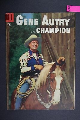 GENE AUTRY and CHAMPION #102 Vintage Western Dell Comic Book 1955 A64