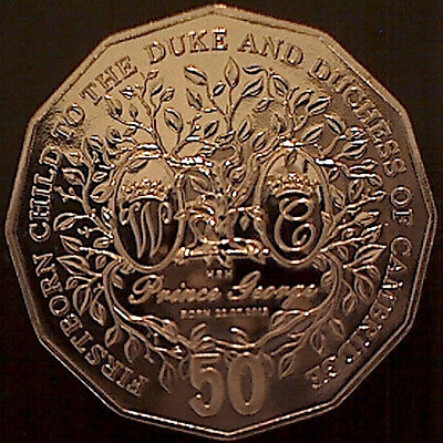 ** 2013 First Born Child to the Duke & Duchess of Cambridge 50 cent Coin**Unc