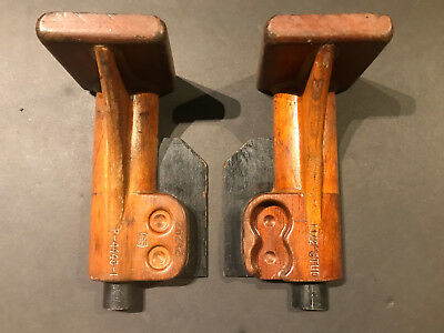 Antique Production Foundry Mold 2pc Halved Wooden Casting Vintage Steampunk