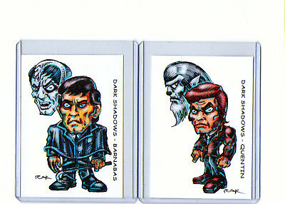Dark Shadows (2 Cards) Art Prints Barnabas Collins Quentin Collinwood Vampire
