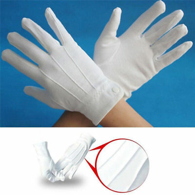 Adult White Formal Gloves Mens Tuxedo Guard Parade Santa Inspection Fancy Dress