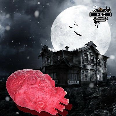 Scary Haunted House Party Decor Halloween Props Horror Heart Life Size Spoof Toy