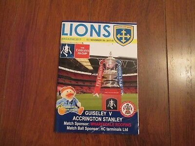 2017/18 GUISELEY v ACCRINGTON STANLEY (FA CUP)