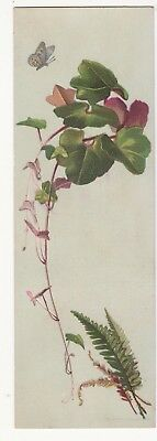 R & J Gilchrist Dry Goods Boston MA Bookmark Fern Butterfly Leaves Card c1880s