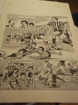 Newcastle Utd Football Comic Art - Great Present For Any Newcastle United Fan