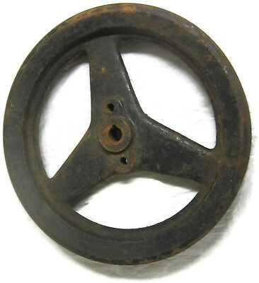Old Cast Iron Spoked 2-Groove Pulley Primitive 8.75 Inch Steampunk Project Part