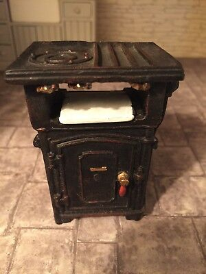 Dolls House Old Fashioned Victorian Style Gas Stove Cooker