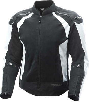 Fly Racing CoolPro Jacket White/Black Small