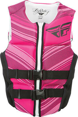 Fly Racing Womens Neoprene Life Vest Black/Pink X-Large