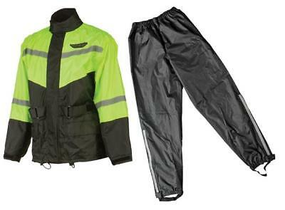 Fly Racing 2-Piece Rain Suit Black/Hi-Vis Yellow Small