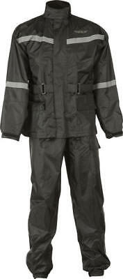 Fly Racing 2-Piece Rain Suit Black Small