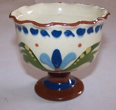 Longpark Torquay Devon Pottery Sugar Bowl Motto Scandi Pattern
