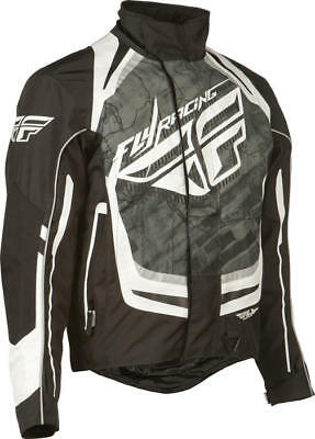Fly Racing SNX Pro Snow Jacket Black/White Medium
