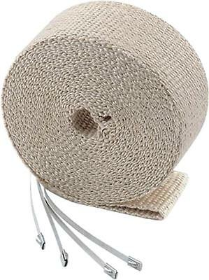 "Accel High-Temperature Exhaust Wrap Kit Tan 1"" x 50'"
