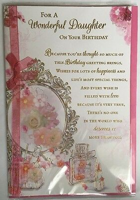 For A Wonderful Daughter On Your  Birthday - Birthday Card - Versey/wordy