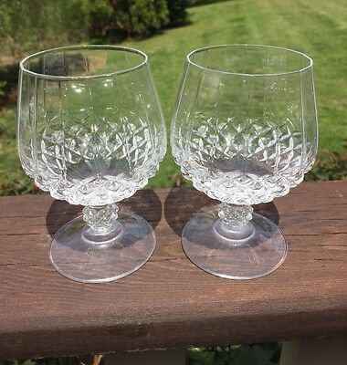"Cristal D'arques Durand Crystal ""Longchamp"" 5 1/4"" Brandy Goblet Glass Set of 2"