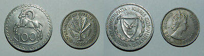 Cyprus : 2 Old Coins - Attractive Designs