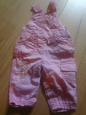[r2] baby girl Marks & Sparks dungarees up to 3 months VGC **1/2 PRICE POSTAGE**
