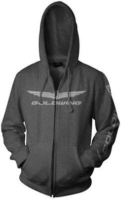 Honda Collection Gold Wing Zip Hoody Gray Large