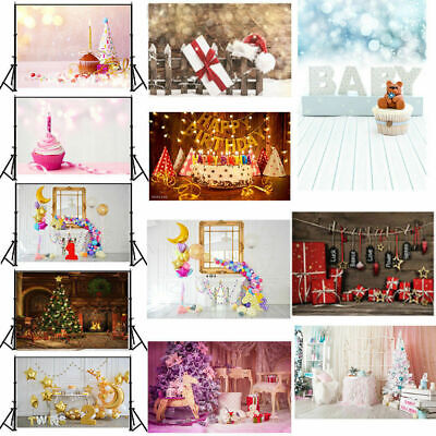 Baby Birthday Party Theme Photography Backdrop Background Studio Props 5x7ft
