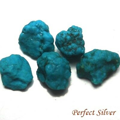 8.71 ct. 5 Pcs. 100% Unheated Natural Rough Blue Turquoise @ Free ship