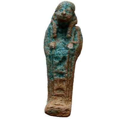 Ancient Egyptian Faience Ushabti Shabti Pendant 1000-500 Bc