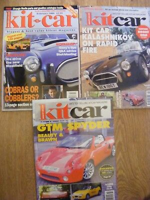 3 x Kit Car Magazines 2000, 2003, 2006  --- all  in good condition