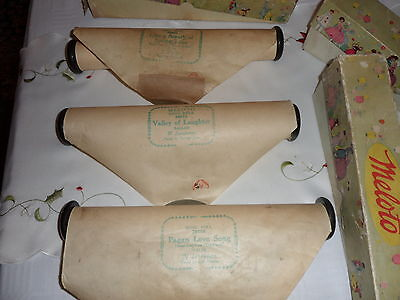 MELOTO song roll  pianola roll  3 rolls see description