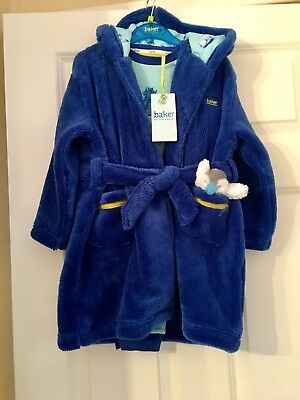 Ted Baker Boys Pyjamas & Dressing Gown Set BNWT Age 2-3 & Teddy Xmas Gift £40