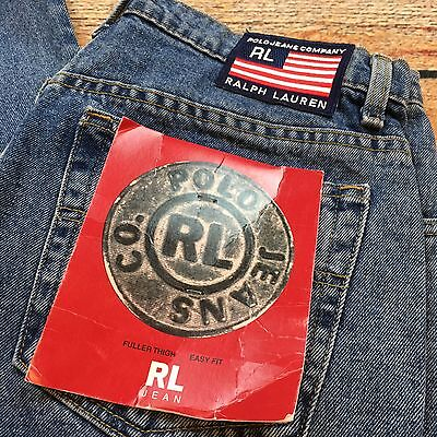 NWT 90s VTG POLO RALPH LAUREN Denim Mom JEANS 14x29 Light Relaxed Easy Fit RL og