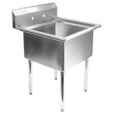 """OPEN BOX - Commercial Stainless Steel Kitchen Utility Sink - 30"""" wide"""