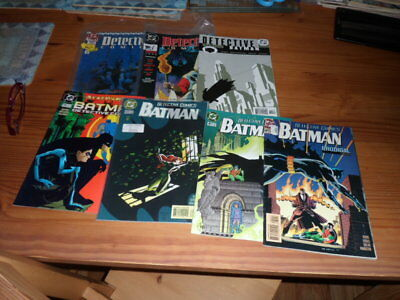 DC: Batman Detective comic lot,mainly all fine condition,annuals included.