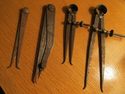 Vintage  Groupe  Of  4  Engineer's  Spring  Insde  Caliper's.