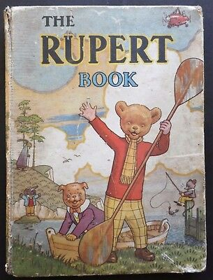 Rupert Annual 1941..original..inscribed...no Price To Clip...greycaine's Edition