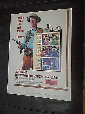 Paul Newman               Hombre       Window Card 14X18